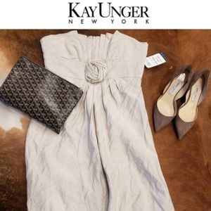 NWT Kay Unger strapless dress